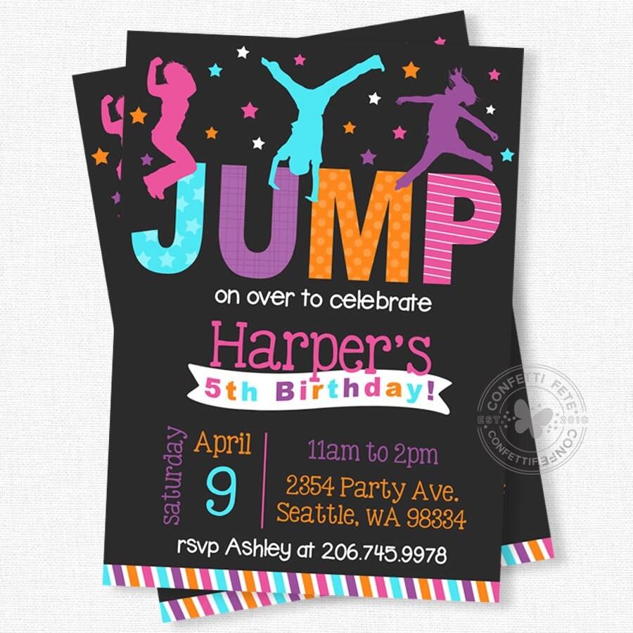 Jump Birthday Invitation Bounce House Birthday By ConfettiFete