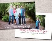 """Christmas card, Photo Christmas card, Holiday Card, Printable Christmas card, Modern Christmas card: PRINTABLE (""""Although it's been said"""")"""