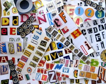 Ephemera.  Tons of alphabetical letters to use for scrapbooking, collages, decoupage, journaling.