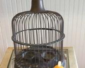 INDUSTRIAL BIRDCAGE WEDDING Birdcage Hendryx Birdcage Style Metal Steel Birdcage, Mid Century, Industrial Deco, Steampunk r at  Modern Logic