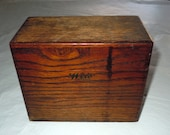 Vintage dovetailed wood Weiss Recipe Box