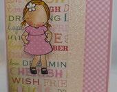 Handmade Card, Greetings, Gift, Birthday, Occasions, MFT, My Favorite Things - Little Cutie Princess Girl