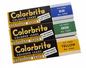Three Boxes of Colorbrite Colored Leads, Boxes of Colored Leads, Draftmen's Leads