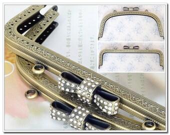 8 inch(20.5cm)  sewing metal purse frame bag frame clip clutch handbag frame puse frame supply