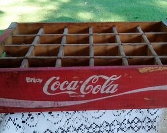Vintage 1978 Chattanooga Coke Crate, Shadow Box, Vintage Coke Box, Coke Tray, Delta Crate.