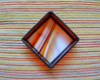 Stained Glass Jewelry Box in Orange