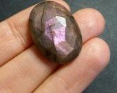 Purple  Labradorite Oval Rose Cut Cabochon -  24.5 x 17.5 x 7mm - jewellery supplies - pendant cabochon -  TT21