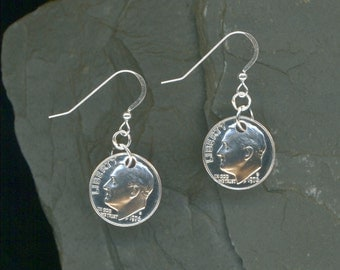 40th Birthday Gift 1976 Dime Earrings 40th Anniversary Gift Coin Jewelry 1976 Dimes