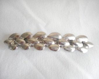 Vintage Silver Tone Hair Accessory Barrette