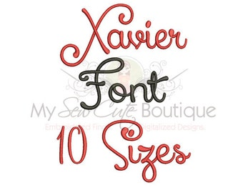 Machine Embroidery Fonts and Alphabets - 10 Sizes - BX Embroidery Font Included
