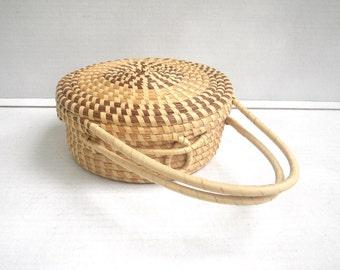 Sweetgrass Basket Purse South Carolina Lid Handles