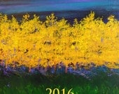 2016 wall calendar, 2016 wall calendar, 2016 art calendar, 2016 wall calendar with images of paintings
