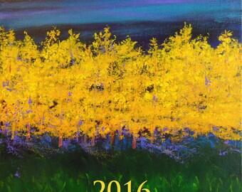2016 calendar / wall calendar/ art calendar