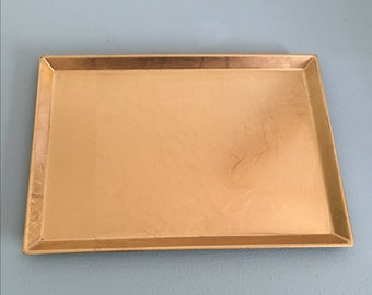 vintage 1970s japanese gold lacquer tray