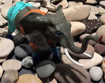 One of a Kind Handpainted Plastic Animal Figurine