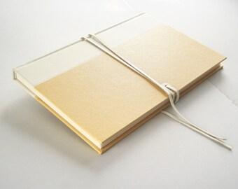 White Leather Journal Sketchbook Ledger