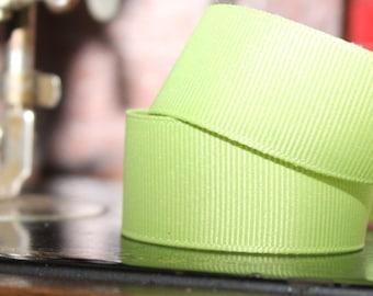 Lime Green Grosgrain Ribbon 7/8