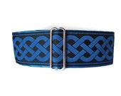 Blue Martingale Collar, Celtic Martingale Collar, 2 Inch Martingale Collar, Celtic Dog Collar, Jacquard Martingale Dog Collar