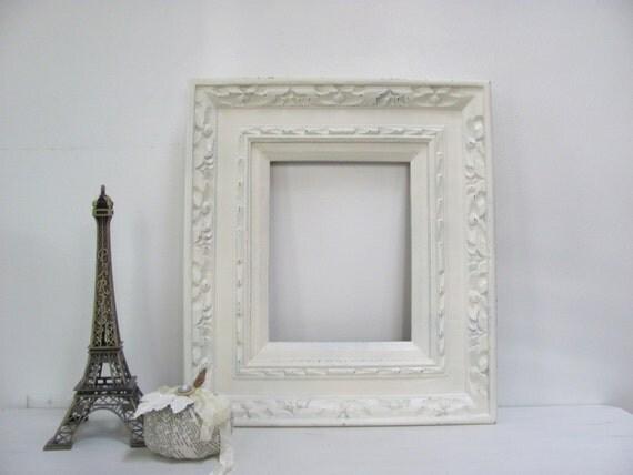 ornate picture frame vintage cream antique white open. Black Bedroom Furniture Sets. Home Design Ideas