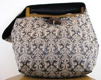 CROSSBODY HOBO BAG - Large Bag - Oversized Bag - Boho Bag - Over Shoulder Bag - Vegan Bag - Vegan Purse - Slouch Bag - Sling Bag - Big Bag