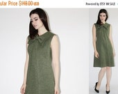 70% Off FINAL SALE - D - Vintage 1960s Dress -  60s Mod Dress - The Tabby Dress - 8036