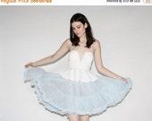 SALE 65% OFF ends 02/16 Vintage 50s Crinoline - 50s Pastel Blue Crinonline - The Sky is Falling Skirt  - 8077