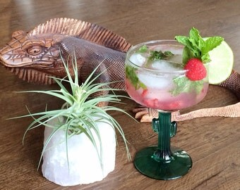 Vintage margarita glass, Libbey cactus margarita glass, Libbey Cozamel cactus glasses