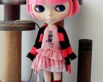 Sugarbabylove - Pink dress set for Blythe