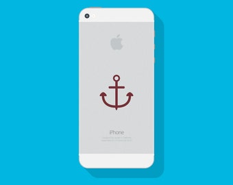 ANCHOR Vinyl DECAL, Nautical Decal, iPhone Decal, Cell Phone Decal, Vinyl Sticker