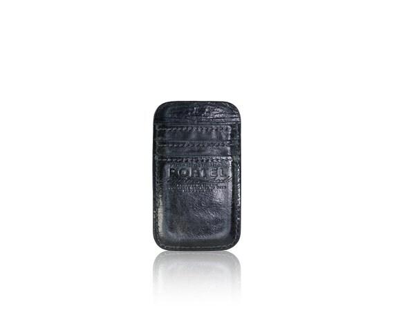 iPhone SE, iPhone 5 RETROMODERN aged leather pocket - - BLACKMARINE