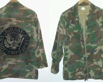 Ramones / Army Jacket / Camouflage Jacket / Camo / Band /USA/ Military / Combat / Indie / Grunge / Rocker / Punk Rock / Unisex / Women / Men