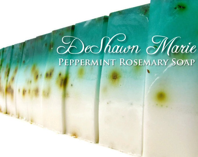 SOAP - 3 lb. Peppermint Rosemary Vegan Handmade Soap Loaf, Wholesale Soap Loaves