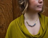 Labradorite Necklace, Earthy Necklace, Gift for Her, Iridescent Necklace