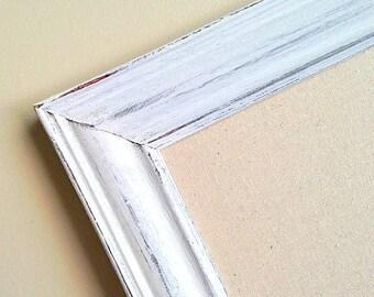 Large LINEN PINBOARD Home Office Decor Wall Organizer Business Organization Craft Room Decor Cork Board Corkboard Inspiration Board White