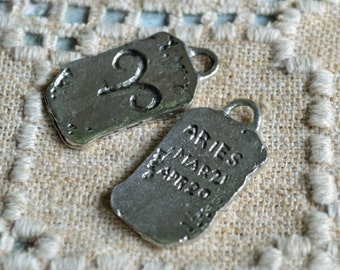 """Aries """"The Ram"""" Zodiac Astrology Sign of March April Pewter Ancient Pendant"""