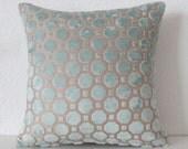 Robert Allen Velvet Geo Mineral decorative pillow cover