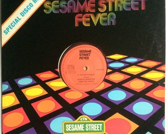 SESAME STREET FEVER Disco 12 inch Single C Is For Cookie 1978 Original Vinyl Record Album