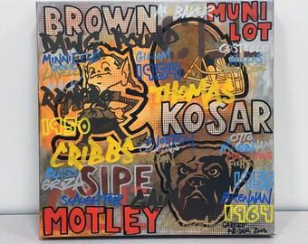 BROWNS GRAFF 01 Painting 17 x 17 by Garrett Weider
