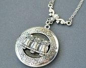 Owl Locket Necklace, Owl Photo Locket Jewelry,Owl Pendant Necklace,Owl Locket, Owl Jewelry Necklace