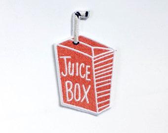 Juice Box Iron On Patch