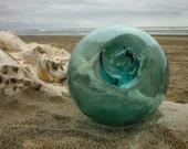 "Japanese Glass Fishing Floats - 3.2"" Diameter, Alaska Beachcombed, Marked"