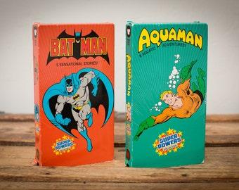 DC Comics Batman & Aquaman Super Powers Collection VHS, Vintage 80s