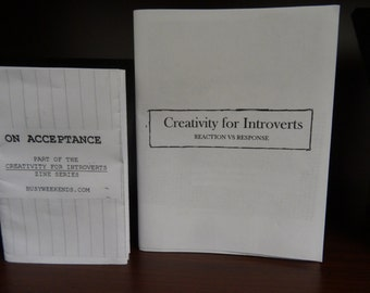 Creativity for Introverts! 4 Reaction vs Response & Acceptance - Self-Care Zine