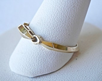 14K Gold Ring, Gold Wedding Band, 14K Gold Stackable Ring, Gold Signet Ring, Yellow Gold Ring, Vintage Gold Ring