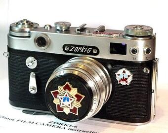 1965 Antique ZORKI-6 camera rare USSR Russian Leica -=Victory Day=-