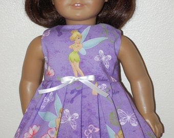Tinkerbell on purple dress - clothes made for American Girl