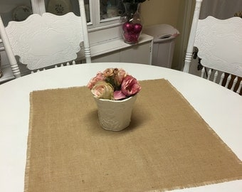 Burlap Table Squares-Burlap Table Covers-Select Your Size and Amount Needed-Natural or Ivory-Rustic Burlap Squares