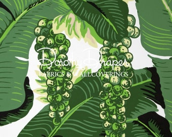 Dorothy Draper Brazilliance Wallpaper - Banana Leaf Wallpaper  - FREE SHIP-Palm Leaf Wallpaper - Beverly Hills Hotel - Palm Print