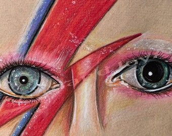 Aladdin Sane Limited Edition Signed Print by Diana Almand