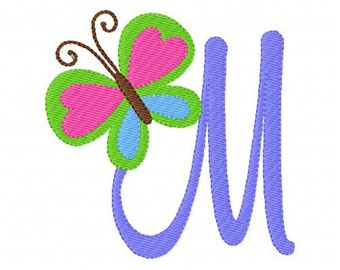 Butterfly Peace Machine Embroidery Monogram Font Design Set, Machine Embroidery Design, Butterfly Embroidery Design // Joyful Stitches